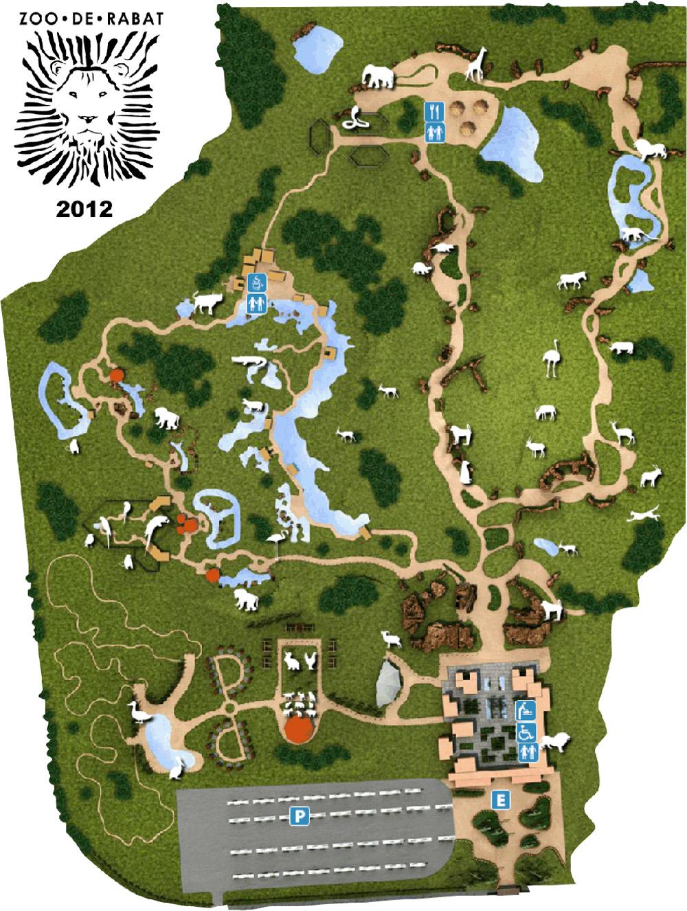 Les zoos dans le monde jardin zoologique de rabat for Le jardin zoologique