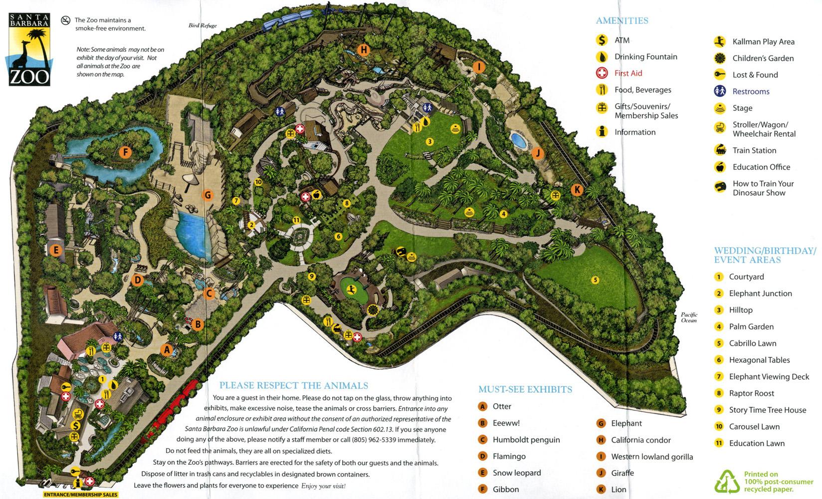Santa Barbara Zoo Map Best Image Konpax 2018