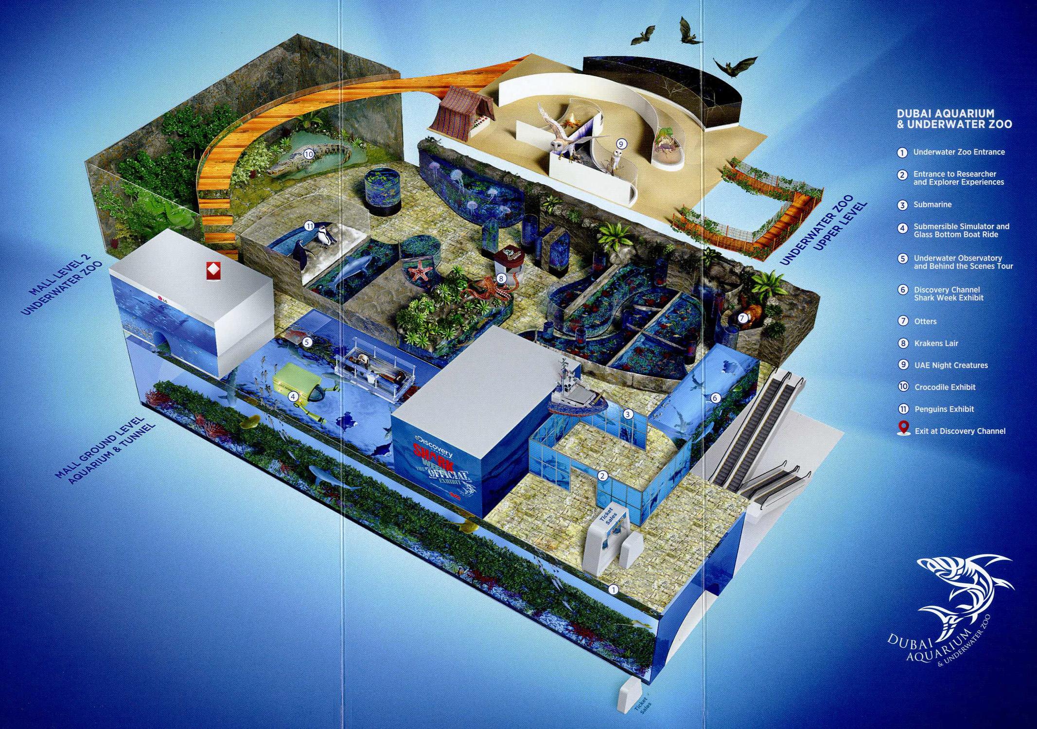 Les Zoos Dans Le Monde Dubai Aquarium Amp Underwater Zoo