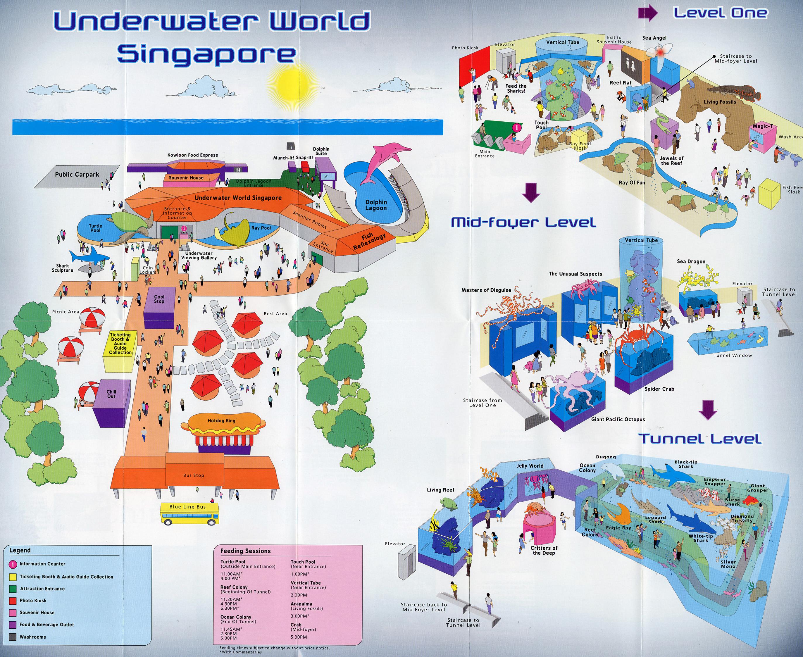 Les Zoos dans le Monde  Underwater World Singapore