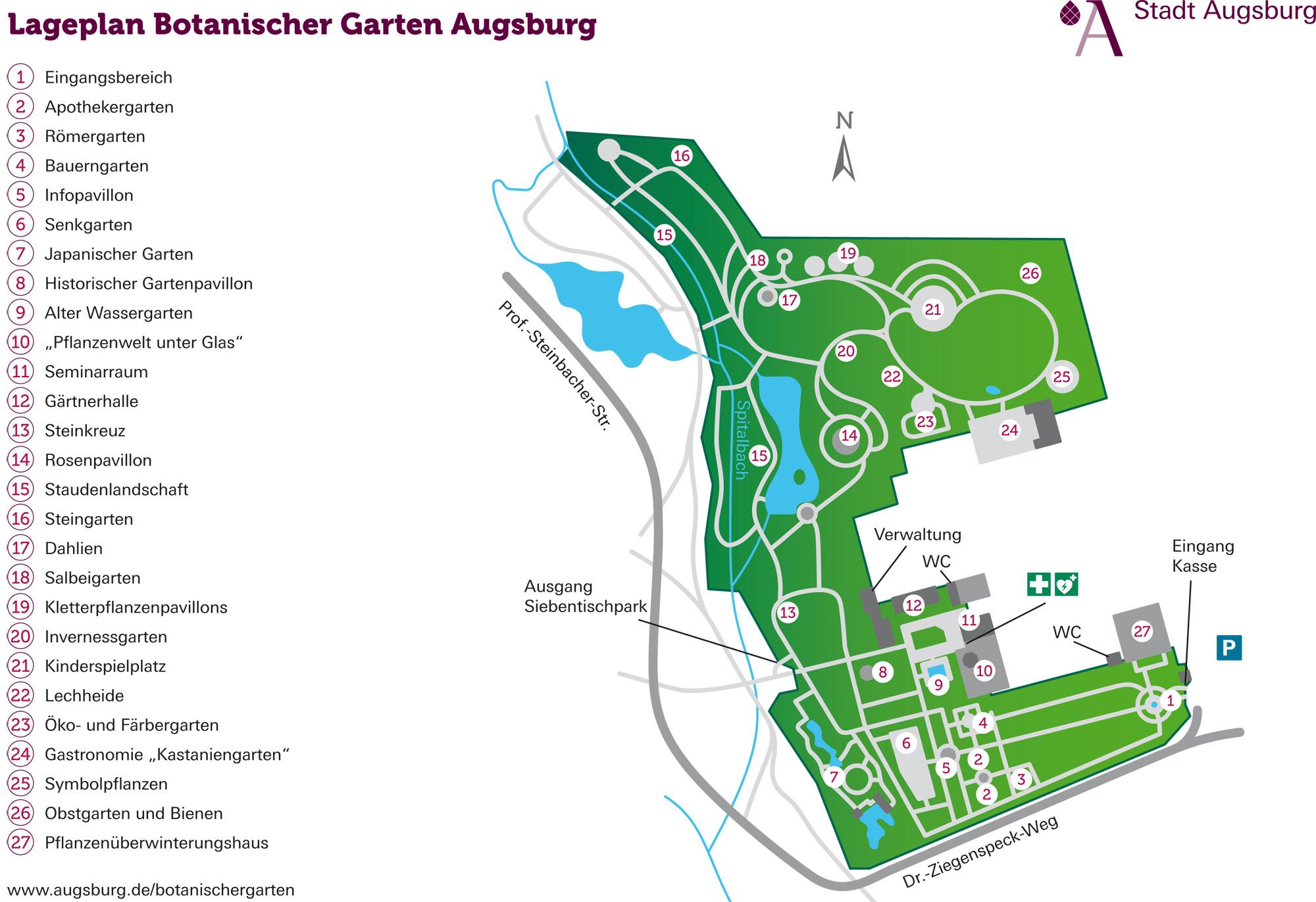 Les Zoos Dans Le Monde Botanischer Garten Augsburg
