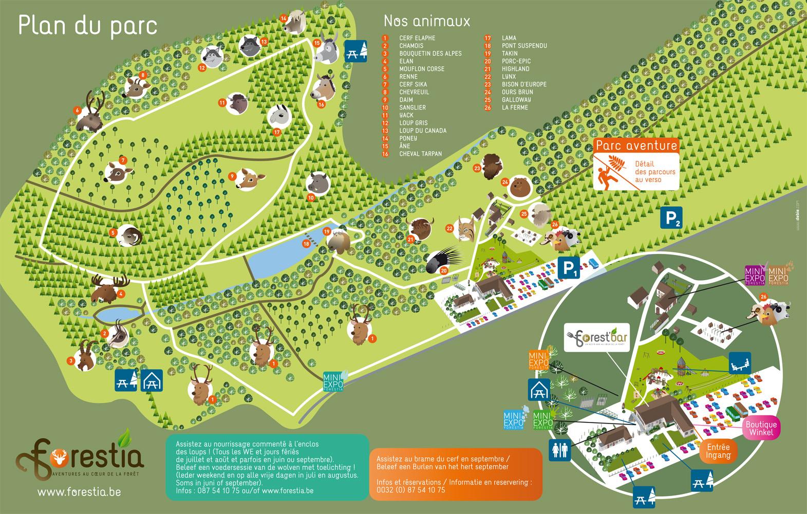 Les zoos dans le monde parc forestia for Parc animalier dans les yvelines