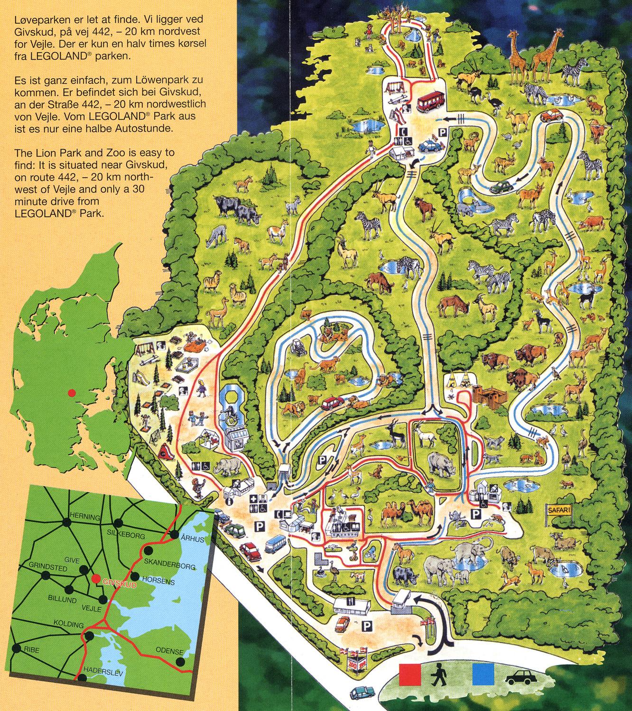 Givskud Zoo kort hore frederikshavn