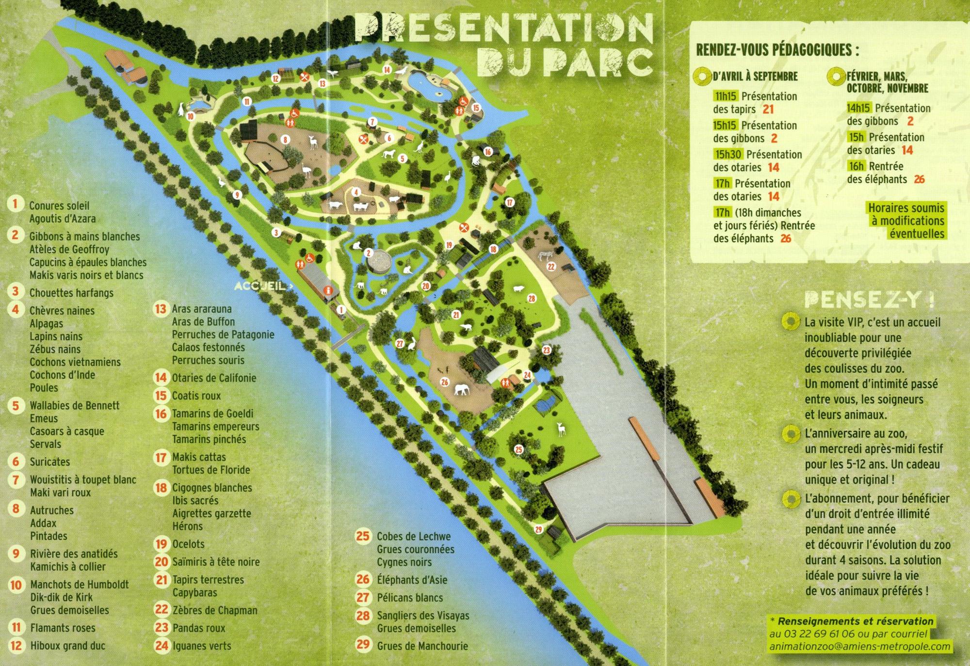 Les Zoos dans le Monde - Zoo d'Amiens