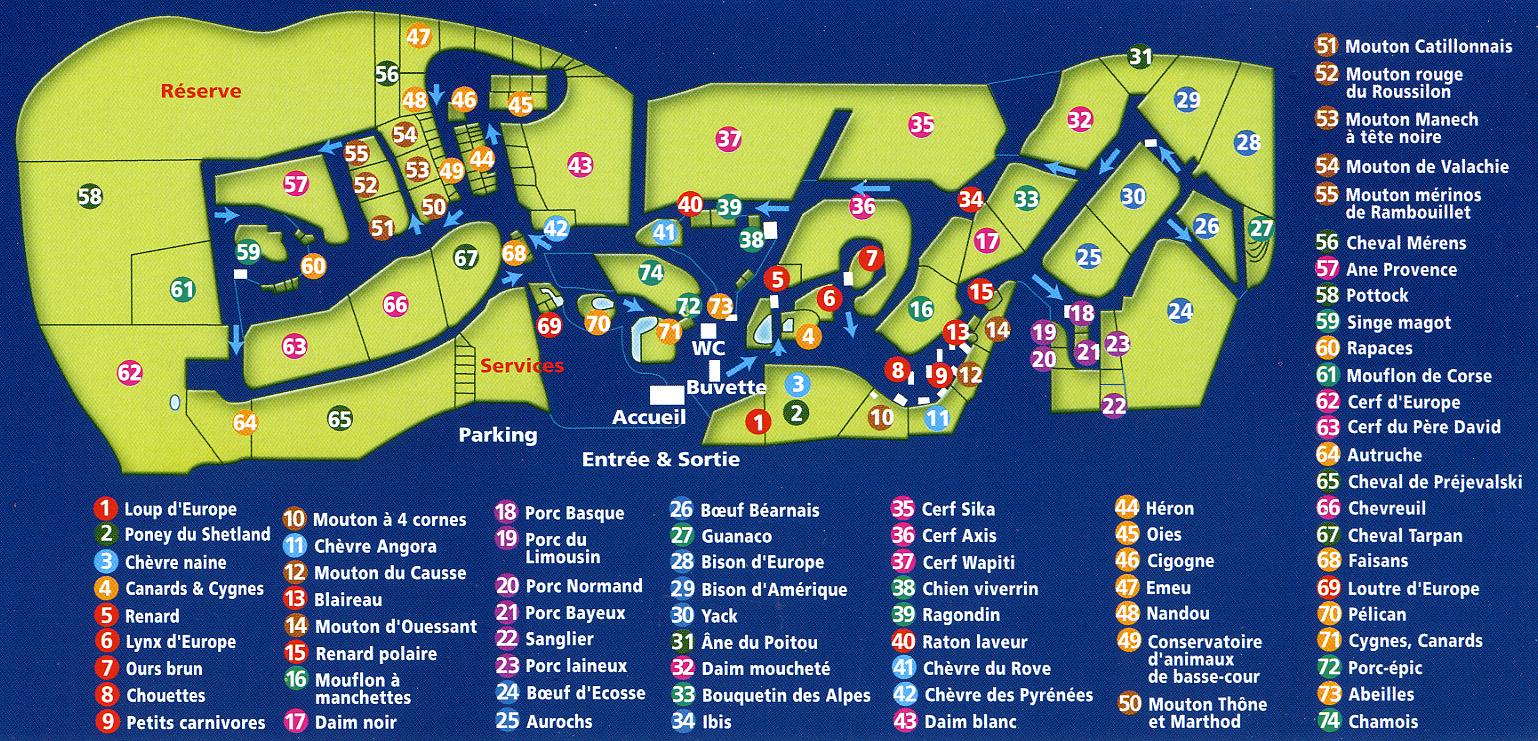 Les zoos dans le monde parc animalier de gramat for Parc animalier dans les yvelines