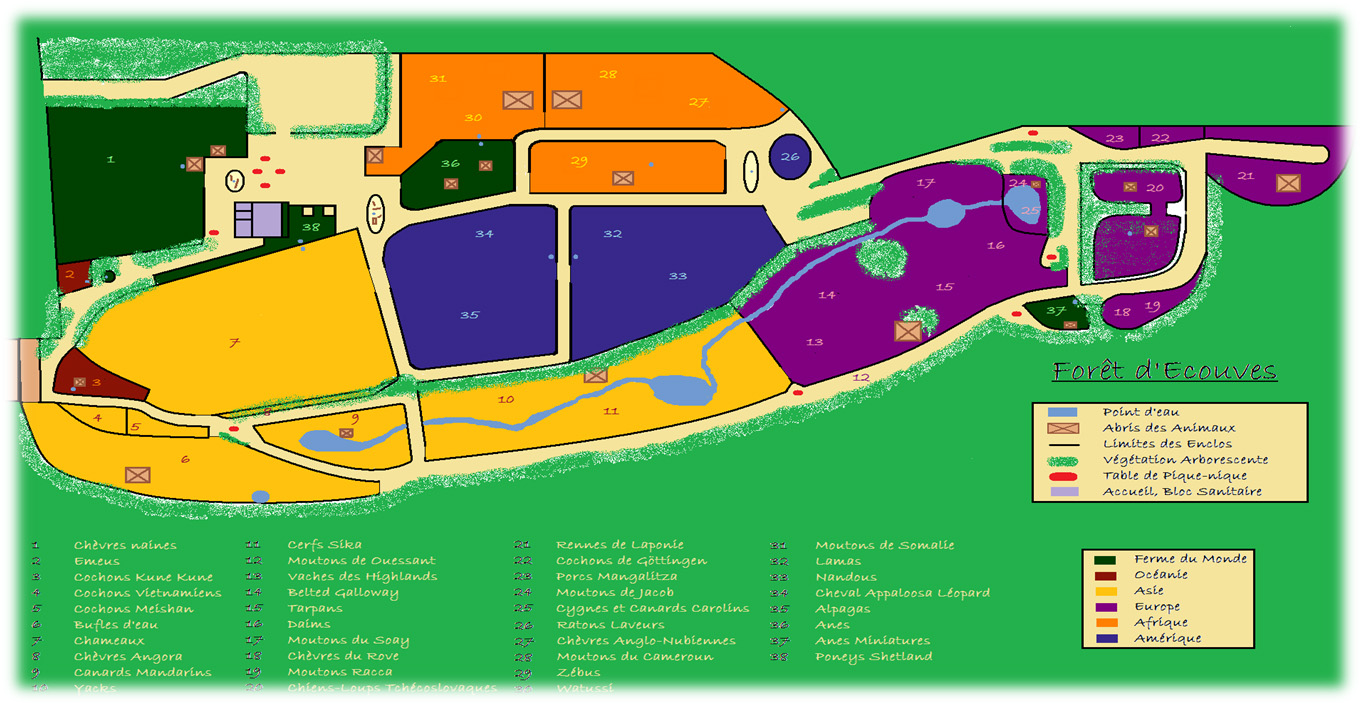 Les zoos dans le monde parc animalier d 39 couves for Parc animalier dans les yvelines