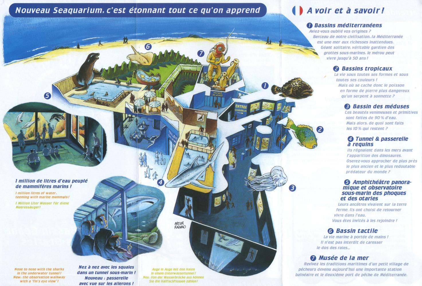 les zoos dans le monde seaquarium