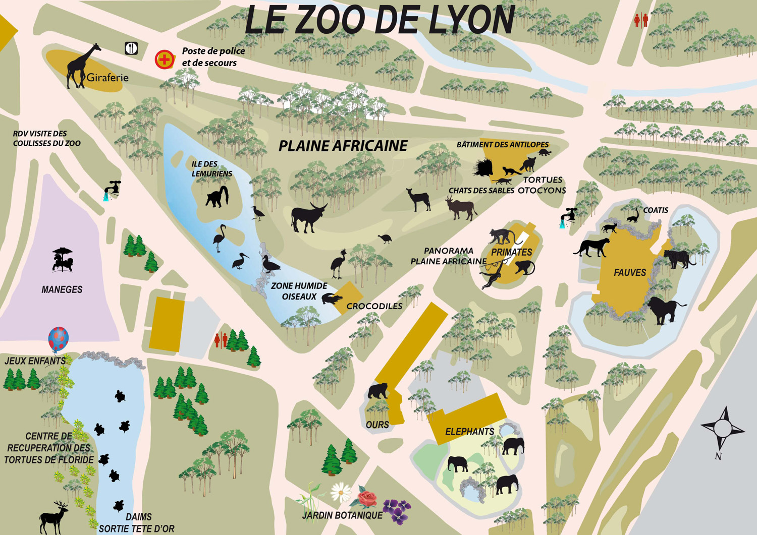 Map Of Zoos In France.Index Of Zoos Europe France Lyon Maps