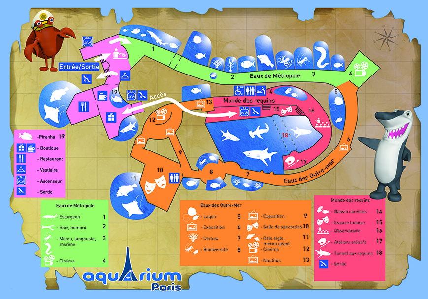 Les zoos dans le monde aquarium de paris for Aquarium de paris jardin du trocadero
