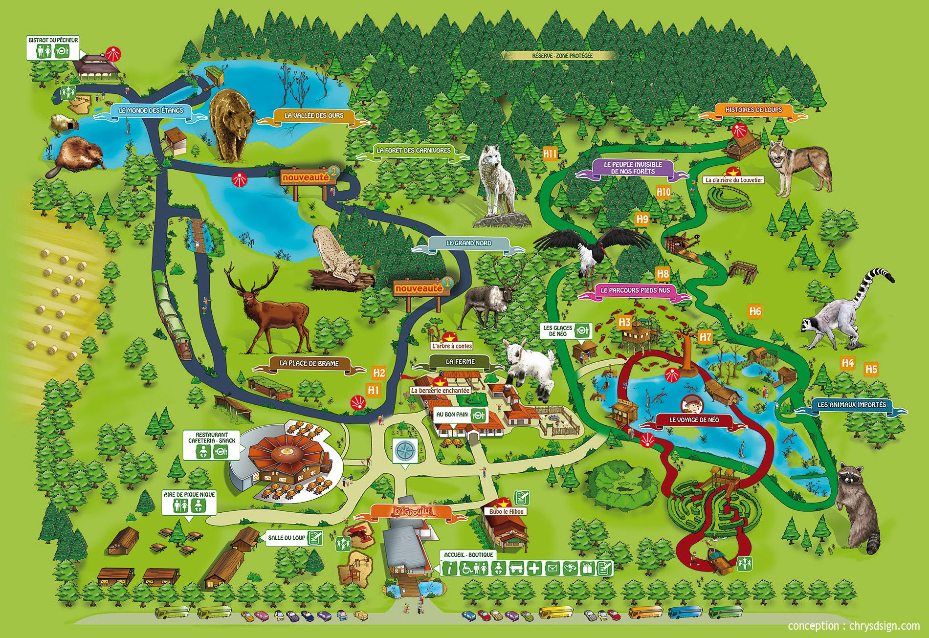 Les zoos dans le monde parc animalier de sainte croix for Parc animalier dans les yvelines