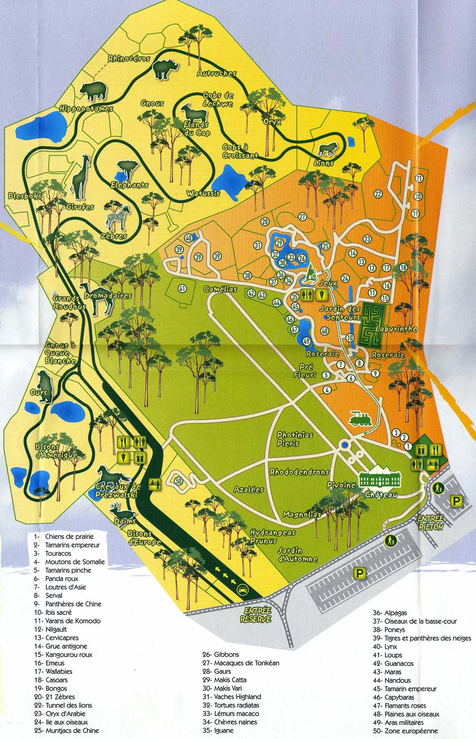 Map Of Zoos In France.Index Of Zoos Europe France Thoiry Maps