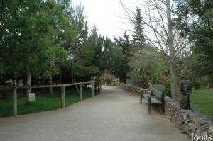 One of the pathways in the Parque Zoológico de Lagos