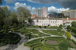 Historic gardens viewed from the cable lift
