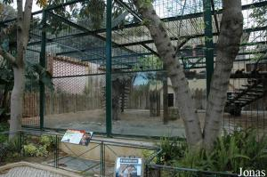 Old cages for the Siberian tigers