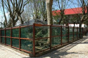 One of the aviaries in the first part of the zoo