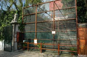 Cage of the vervet monkeys and of the talapoins