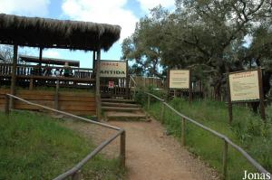 Departure station for the safari tour