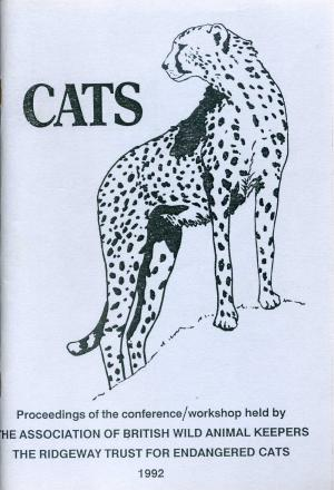 <strong>Cats</strong>, Proceedings of the conference/workshop held by the Association of British Wild Animal Keepers, Editor Pat Mansard, The Ridgeway Trust for Endangered Cats, 1992