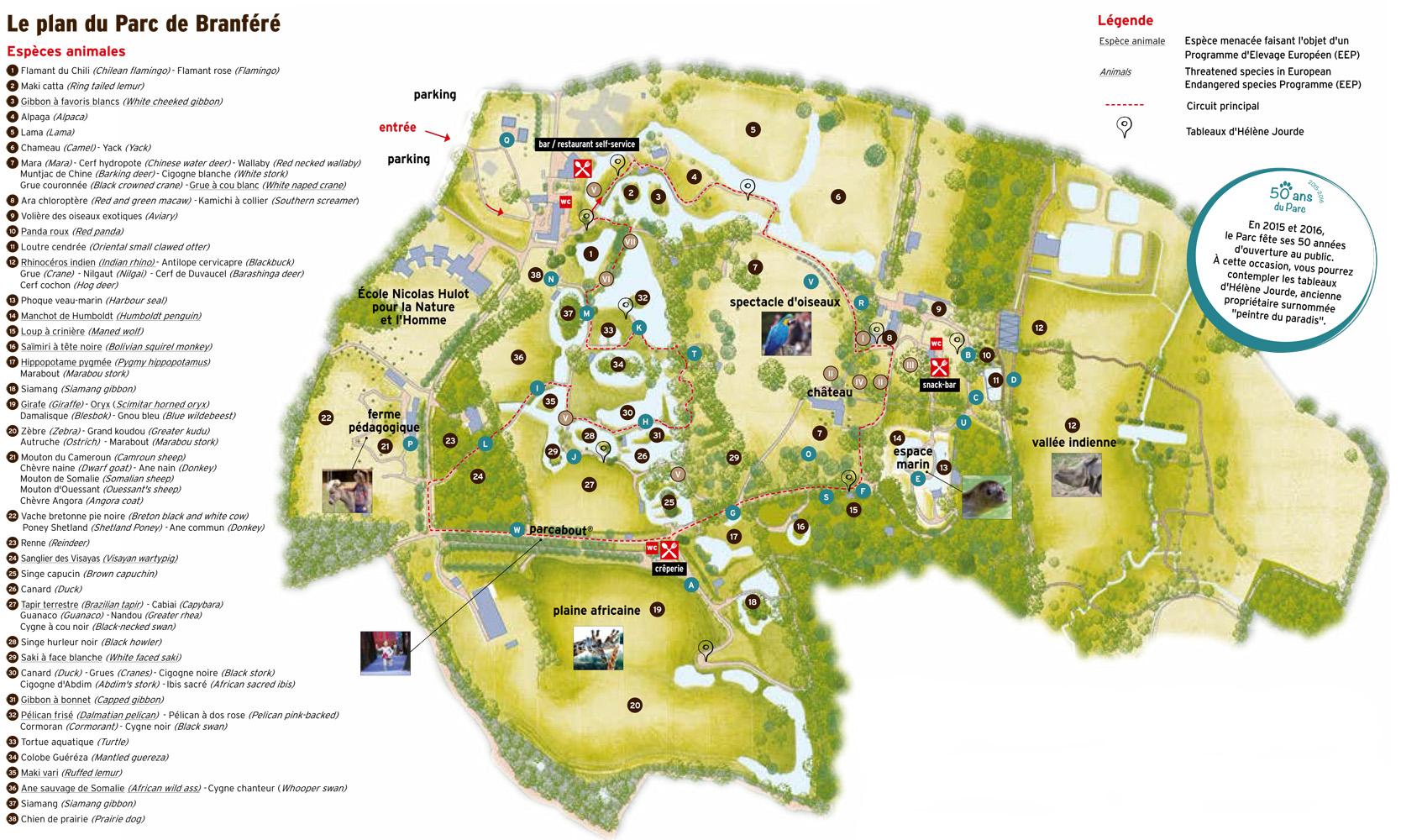 Les Zoos dans le Monde - Parc Animalier et Botanique de Branféré