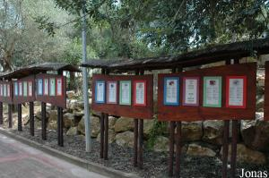 Signs about the rehabilitation centre