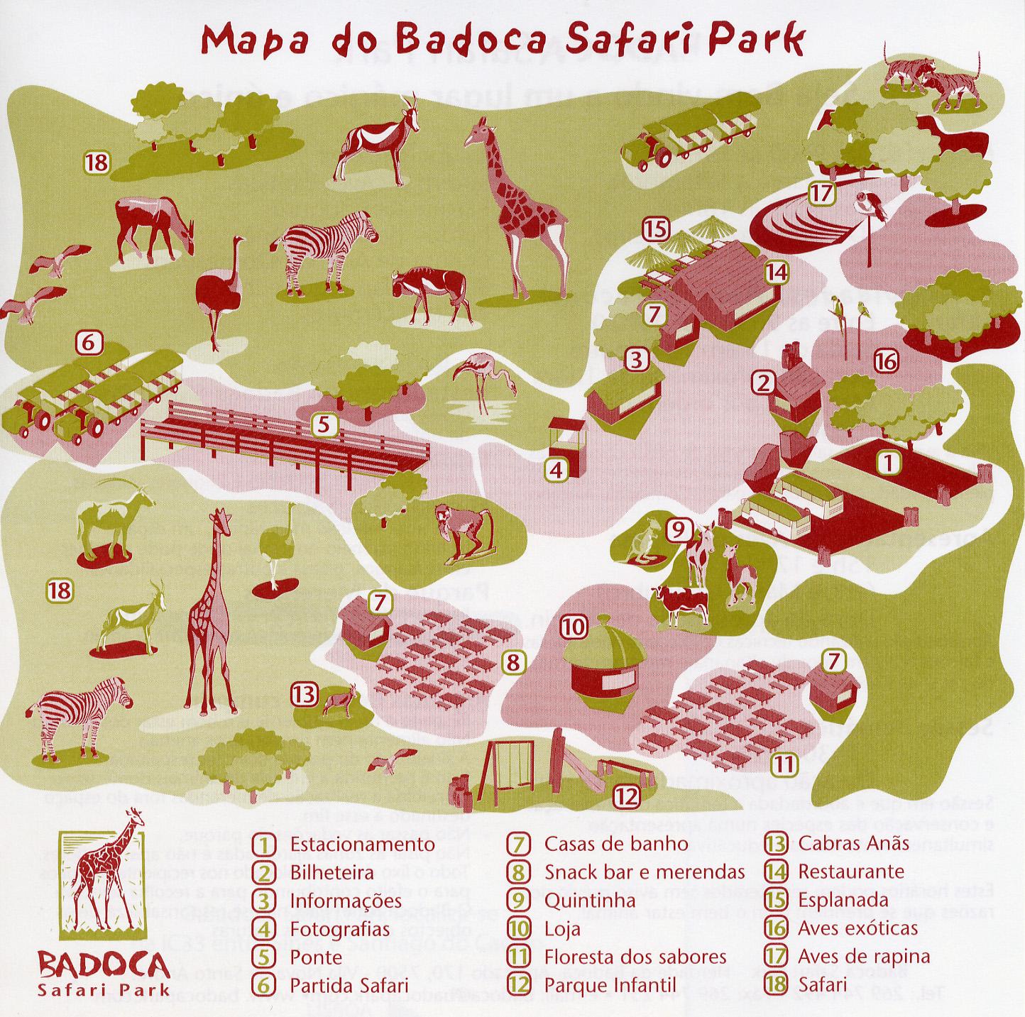 badoca safari park mapa Les Zoos dans le Monde   Badoca Safari Park badoca safari park mapa